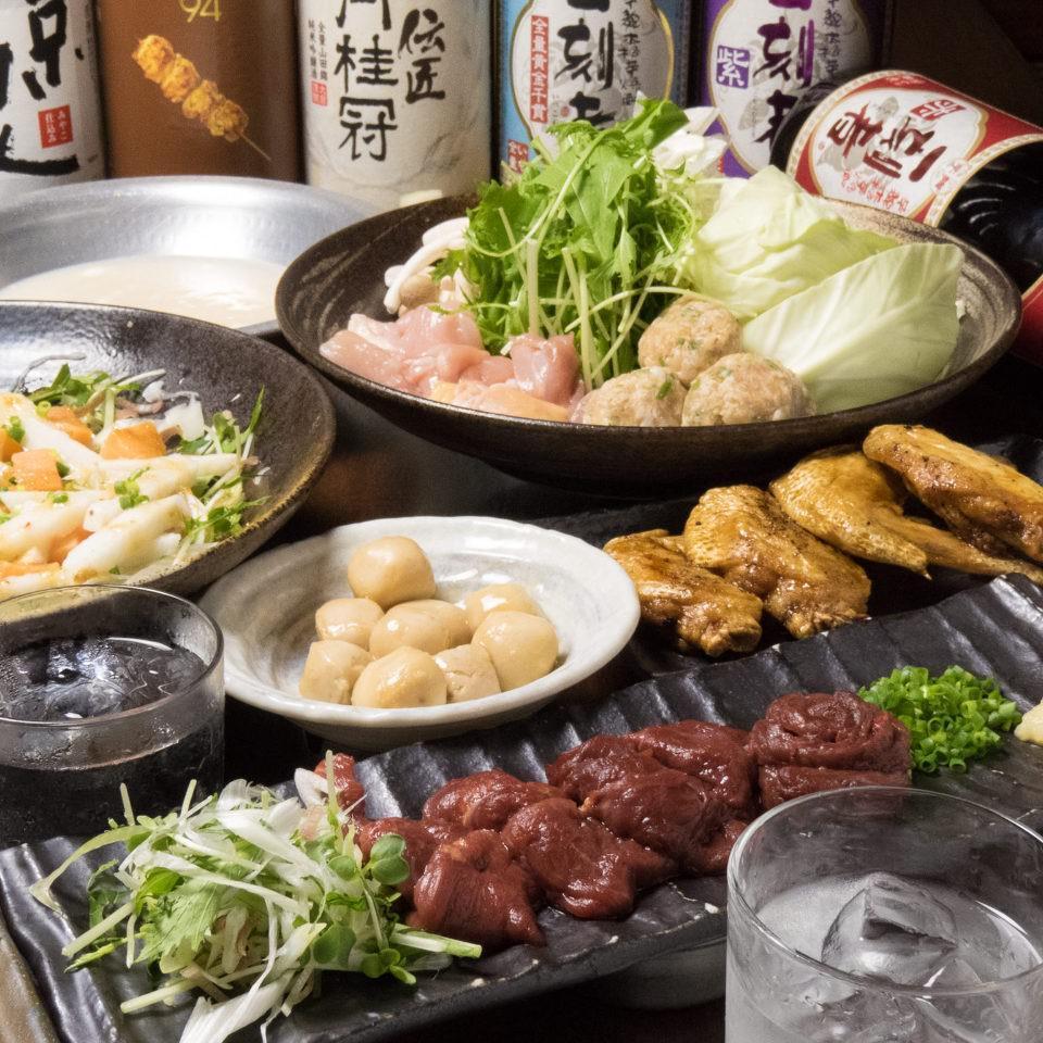 とりいちず立川南口店の鶏料理もお酒もしっかり楽しめるコース